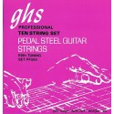 Ghs E9 Tuning Nickel Rockers 12-36 Pure Nickel Rollerwound Pedal Steel Strings PF500