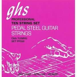 Ghs C6 Tuning Nickel Rockers 15-70 Pure Nickel Rollerwound Pedal Steel Strings PF550