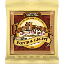 Ernie Ball Earthwood Extra Light Acoustic 80/20 Bronze Guitar Strings
