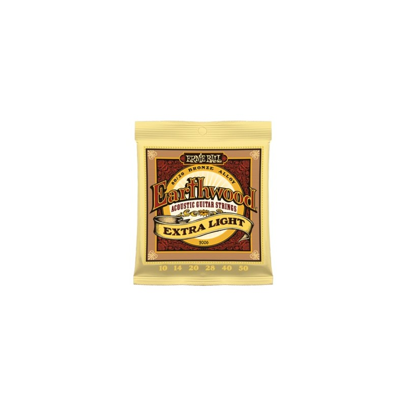Ernie Ball Earthwood 10 50 Extra Light 80 20 Bronze