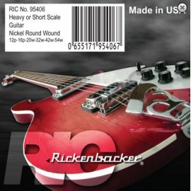 Rickenbacker 5095106 'Short Scale Set' 12 - 54 Electric Guitar Strings