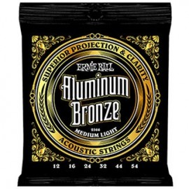 Ernie Ball Aluminum Bronze Medium Light 12-54 Acoustic Guitar Strings