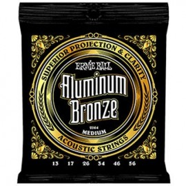 Ernie Ball Aluminum Bronze Medium 13-56 Acoustic Guitar Strings