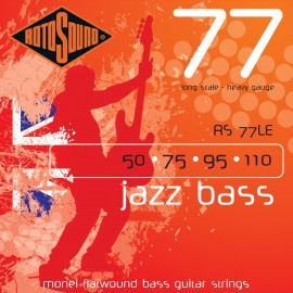 Rotosound RS77LE Jazz Bass 77 '50 - 110' 'Monel Flatwound' Bass Guitar Strings