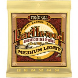 Ernie Ball Earthwood Medium Light Acoustic 80/20 Bronze Guitar Strings