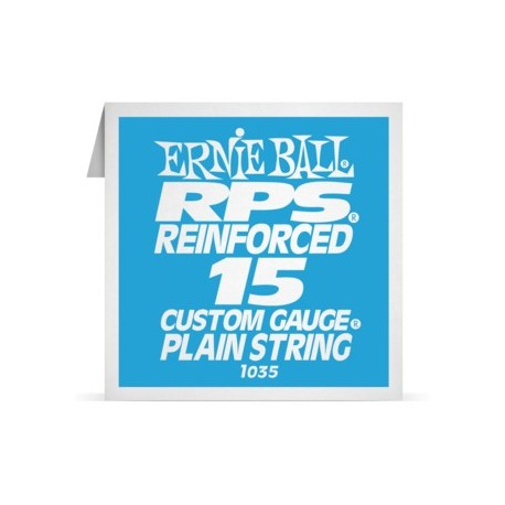 ernie ball single rps reinforced 015 plain steel electric guitar s. Black Bedroom Furniture Sets. Home Design Ideas