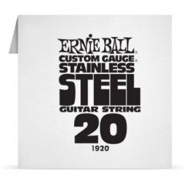 Ernie Ball Single .020 Stainless Steel Electric Guitar String P01920