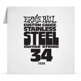 Ernie Ball Single .034 Stainless Steel Electric Guitar String P01934