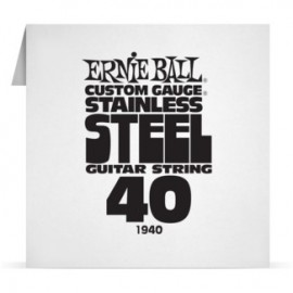 Ernie Ball Single .040 Stainless Steel Electric Guitar String P01940