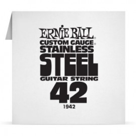 Ernie Ball Single .042 Stainless Steel Electric Guitar String P01942