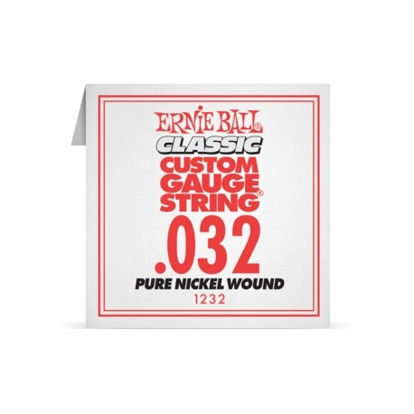 Ernie Ball P01232 Pure Nickel Wound .032 Single Electric Guitar String