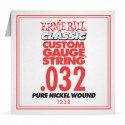 Ernie Ball Single .032 Classic Pure Nickel Wound Electric Guitar String 1232