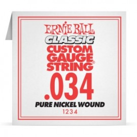 Ernie Ball P01234 Pure Nickel Wound .034 Single Electric Guitar String