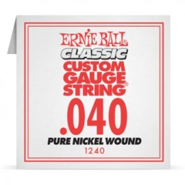 Ernie Ball P01240 Pure Nickel Wound .040 Single Electric Guitar String