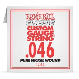 Ernie Ball P01246 Pure Nickel Wound .046 Single Electric Guitar String