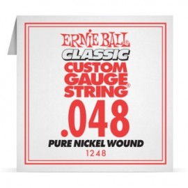 Ernie Ball P01248 Pure Nickel Wound .048 Single Electric Guitar String