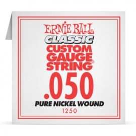 Ernie Ball P01250 Pure Nickel Wound .050 Single Electric Guitar String
