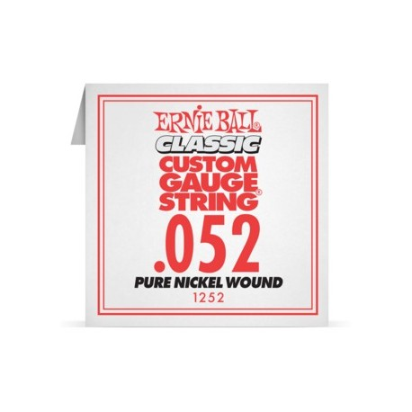 Ernie Ball P01252 Pure Nickel Wound .052 Single Electric Guitar String