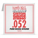 Ernie Ball Single .052 Classic Pure Nickel Wound Electric Guitar String 1252