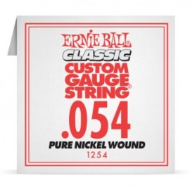 Ernie Ball P01254 Pure Nickel Wound .054 Single Electric Guitar String