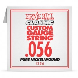 Ernie Ball P01256 Pure Nickel Wound .056 Single Electric Guitar String