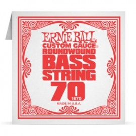 Ernie Ball P01670 Nickel Wound .070 Single Electric Bass String