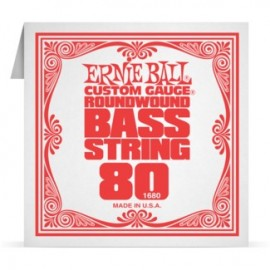 Ernie Ball P01680 Nickel Wound .080 Single Electric Bass String