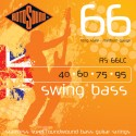 Rotosound RS66LC Swing Bass 66 Medium Gauge 40-95 Stainless Steel Roundwound Bass Strings