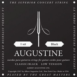 Augustine Classic Black '28 - 43.5' Low Tension, Classical Guitar Strings