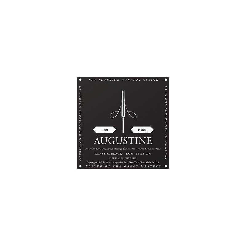 augustine classic black 28 43 5 low tension classical guitar string. Black Bedroom Furniture Sets. Home Design Ideas