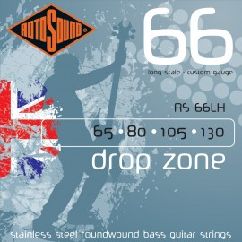 Rotosound RS66LH Drop Zone 65-130 Stainless Steel Roundwound Bass Guitar Strings