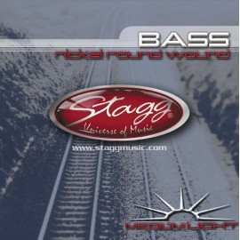 Stagg BA-4500 'Medium Light Nickel Roundwound' 45 - 100 Bass Guitar Strings
