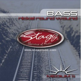 Stagg BA-4525-5S '5 String Medium Nickel Roundwound' 45 - 125 Bass Guitar Strings
