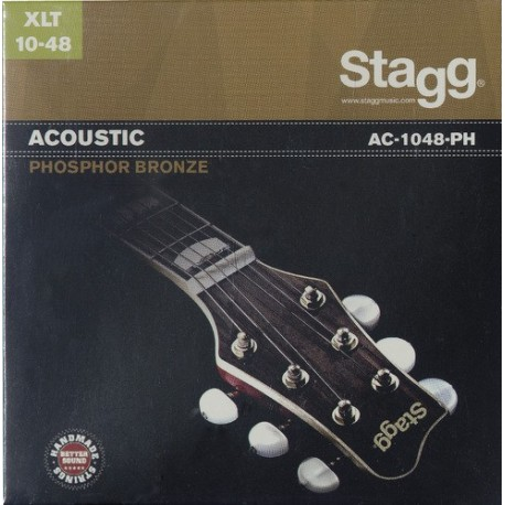Stagg AC-1048-PH 'Extra Light Acoustic' 10 - 48, Phosphor Bronze Acoustic Guitar Strings
