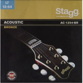 Stagg AC-1254-BR 'Light Acoustic' 12 - 54, Bronze Acoustic Guitar Strings