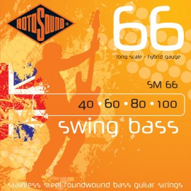 Rotosound SM66 Swing Bass 66 Hybrid Gauge 40-100 Stainless Steel Roundwound Bass Strings
