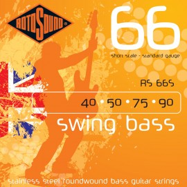 Rotosound RS66S Swing Bass 66 SHORT SCALE Standard Gauge 40-90 Stainless Steel Roundwound Bass Strings