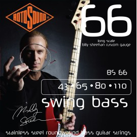 Rotosound BS66 Billy Sheehan Signature 43-110 Stainless Steel Roundwound Bass Guitar Strings