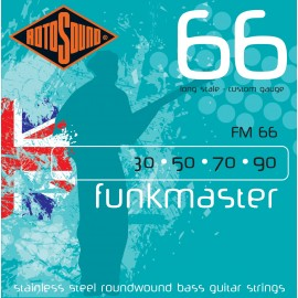 Rotosound FM66 Funkmaster, Custom Gauge, Long Scale, 30 - 90