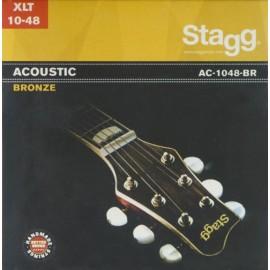 Stagg AC-1048-BR 'Extra Light Acoustic' 10 - 48, Bronze Acoustic Guitar Strings