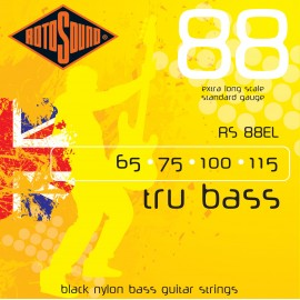 Rotosound Tru Bass 65-115 Black Nylon (Extra Long Scale) Bass Guitar Strings RS88EL