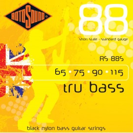 Rotosound Tru Bass 65-115 Black Nylon (Short Scale) Bass Guitar Strings RS88S