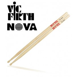 'Nova' by Vic Firth VFN5B Hickory, Wood Tip 5B Drumstick
