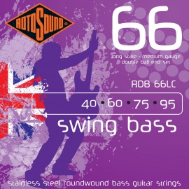 Rotosound Swing Bass Double Ball End 40-95 Stainless Steel Medium Bass Guitar Strings RDB66LC