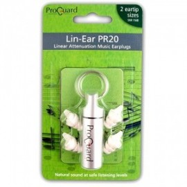 Proguard PR20 Lin-ear Music Earplug, Two Sizes, 19dB Linear Attenuation
