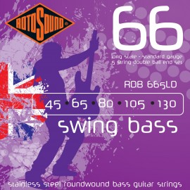 Rotosound RDB665LD 5 String Swing Bass 66 DOUBLE BALL END 45-130 Stainless Bass Guitar Strings