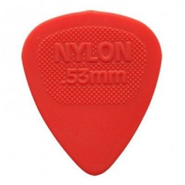 Jim Dunlop 443R53 Nylon Midi Red Guitar Pick .53mm