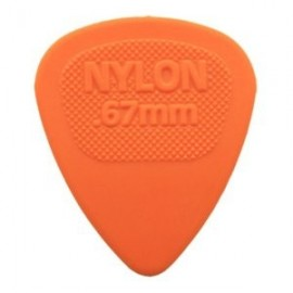 Jim Dunlop 443R67 Nylon Midi Orange Guitar Pick .67mm