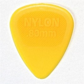 Jim Dunlop 443R80 Nylon Midi Yellow Guitar Pick .80mm