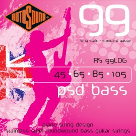 Rotosound 99 RS99LDG PSD Standard Gauge 45-105 Stainless Steel Piano String Design Bass Strings
